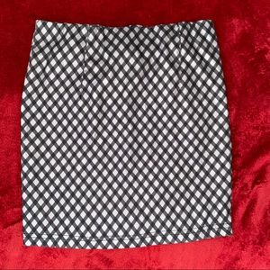 Gingham Girls Structured Skirt
